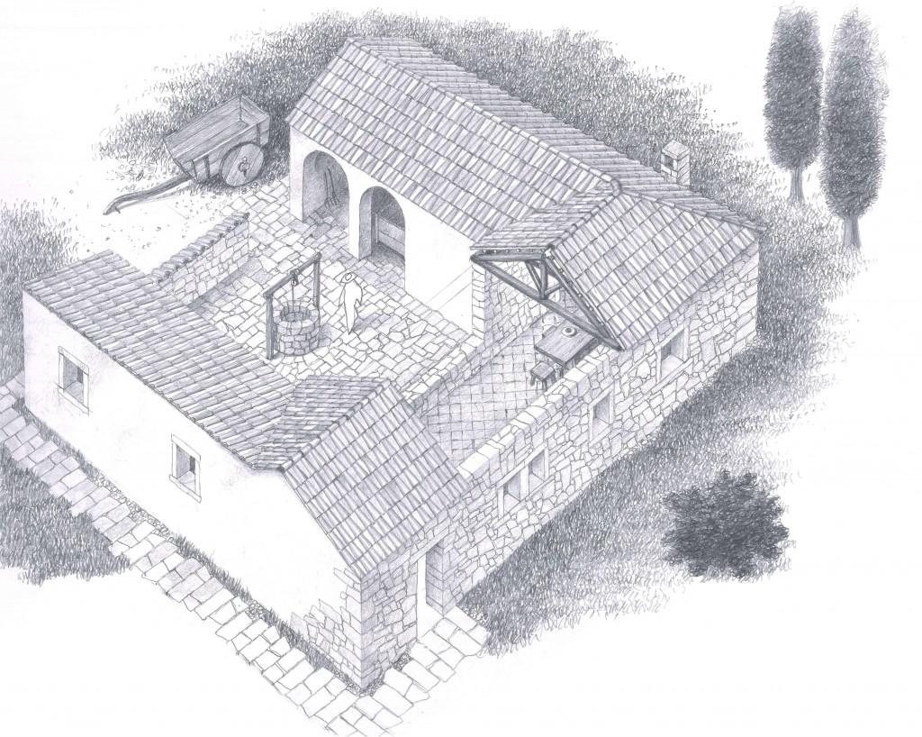 04c--Lonato,-monastero-di-Maguzzano,-ricostruzione-della-fase-altomedievale.