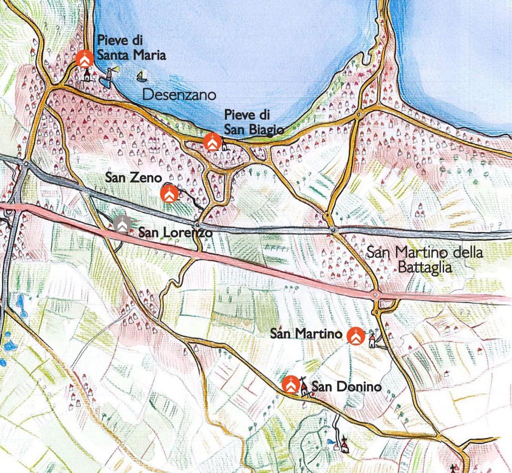 03a--Mappa-delle-pievi-di-Rivoltella-e-Desenzano-ed-edifici-annessi-(Pieve-di-Santa-Maria-a-Desenzano,-Pieve-di-San-Biagio-a-Rivoltella,-Chiesa-di-San-Martino,-Chiesa-di-San-Donnino,-Chiesa-di-San-Ze