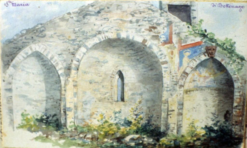 10c---Le-absidi-di-Santa-Maria-di-Bottenago,-le-absidi-in-un-disegno-del-Da-Ponte.
